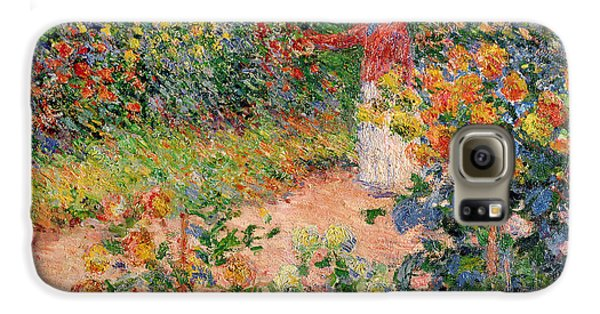 Garden At Giverny Galaxy S6 Case by Claude Monet