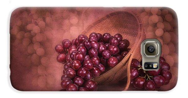 Grapes In Wicker Basket Galaxy S6 Case by Tom Mc Nemar