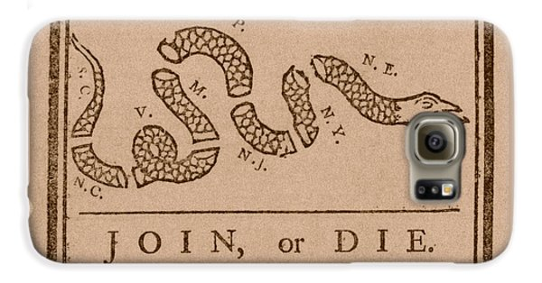 Join Or Die Galaxy S6 Case by War Is Hell Store
