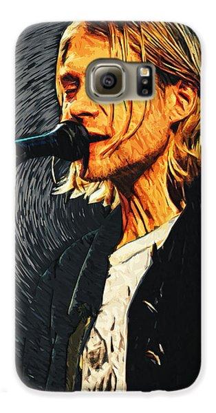 Kurt Cobain Galaxy S6 Case by Taylan Apukovska