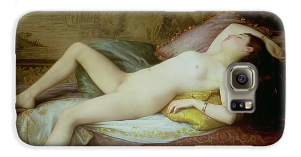 Nude Lying On A Chaise Longue Galaxy S6 Case by Gustave-Henri-Eugene Delhumeau