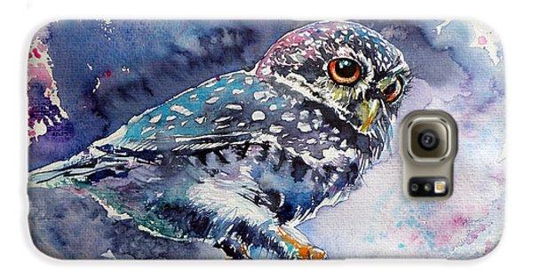 Owl At Night Galaxy S6 Case by Kovacs Anna Brigitta