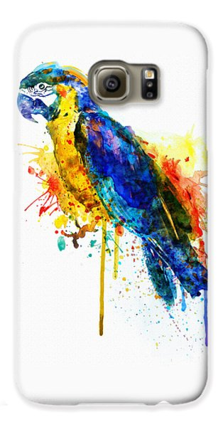 Parrot Watercolor  Galaxy S6 Case by Marian Voicu