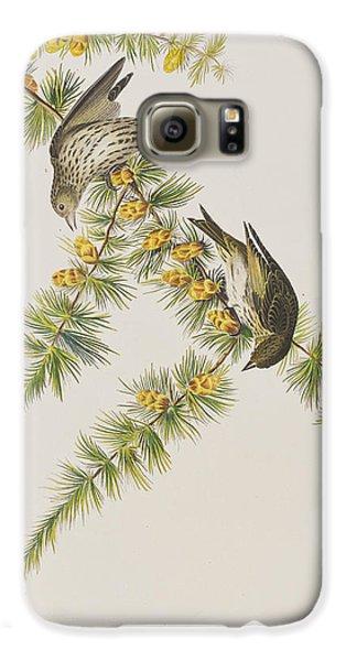 Pine Finch Galaxy S6 Case by John James Audubon