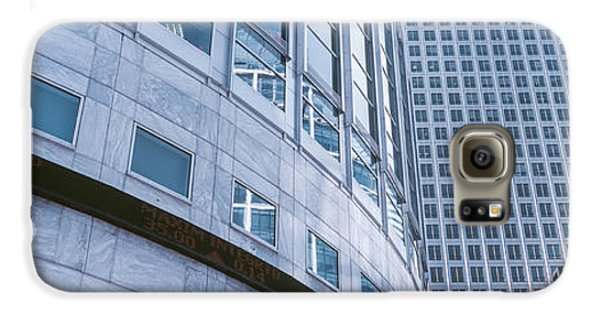 Skyscrapers In A City, Canary Wharf Galaxy S6 Case by Panoramic Images