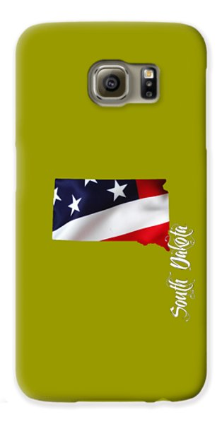 South Dakota Map Collection Galaxy S6 Case by Marvin Blaine