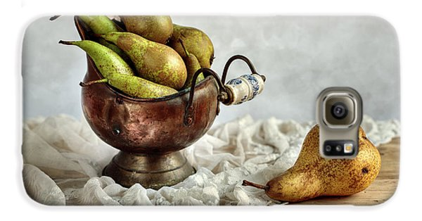 Still-life With Pears Galaxy S6 Case by Nailia Schwarz
