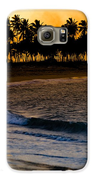 Sunset At The Beach Galaxy Case by Sebastian Musial