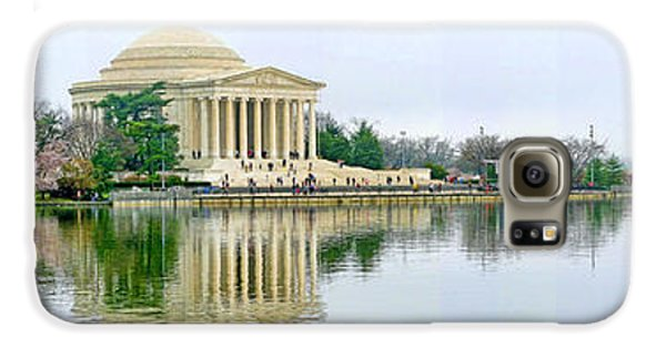 Tidal Basin With Cherry Blossoms Galaxy S6 Case by Jack Schultz