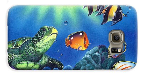 Turtle Dreams Galaxy S6 Case by Angie Hamlin