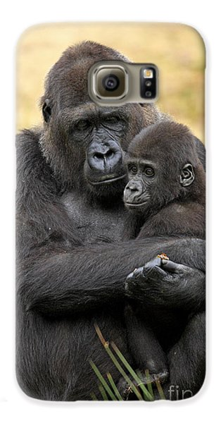 Western Gorilla And Young Galaxy S6 Case by Jurgen & Christine Sohns/FLPA