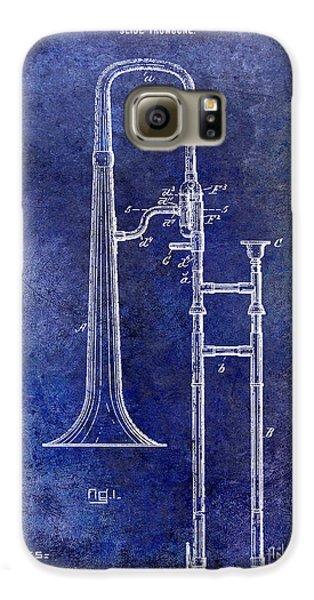 1902 Trombone Patent Blue Galaxy S6 Case by Jon Neidert