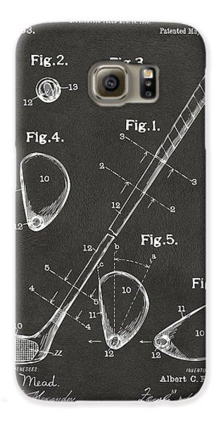 1910 Golf Club Patent Artwork - Gray Galaxy S6 Case by Nikki Marie Smith