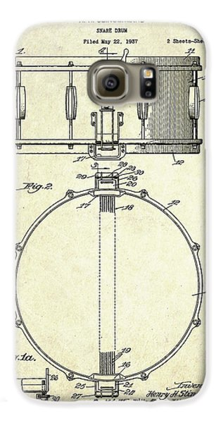 1939 Slingerland Snare Drum Patent S1 Galaxy S6 Case by Gary Bodnar