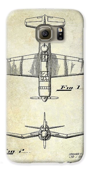 1946 Airplane Patent Galaxy S6 Case by Jon Neidert