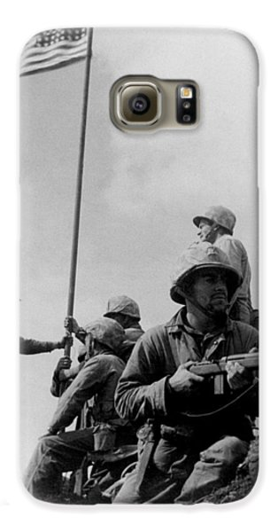 1st Flag Raising On Iwo Jima  Galaxy S6 Case by War Is Hell Store
