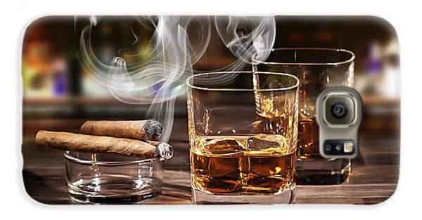 Cigar And Alcohol Collection Galaxy S6 Case by Marvin Blaine