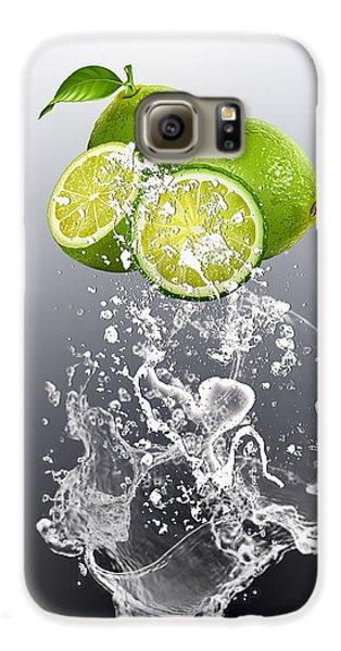 Lime Splash Galaxy S6 Case by Marvin Blaine