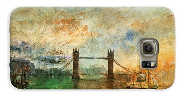 London Watercolor Painting Galaxy S6 Case by Juan  Bosco