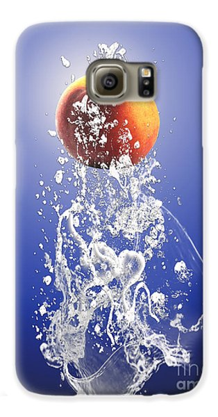 Peach Splash Galaxy S6 Case by Marvin Blaine