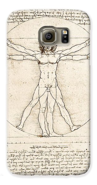 The Proportions Of The Human Figure Galaxy S6 Case by Leonardo Da Vinci