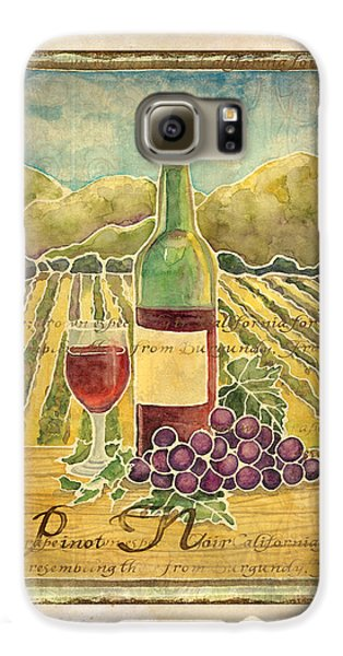 Vineyard Pinot Noir Grapes N Wine - Batik Style Galaxy S6 Case by Audrey Jeanne Roberts