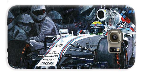2015 Williams Fw37 F1 Pit Stop Spain Gp Massa  Galaxy S6 Case by Yuriy Shevchuk