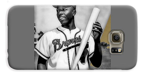 Hank Aaron Collection Galaxy S6 Case by Marvin Blaine