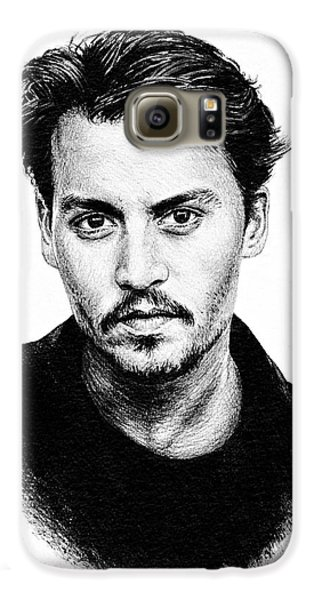 Johnny Depp Galaxy S6 Case by Andrew Read