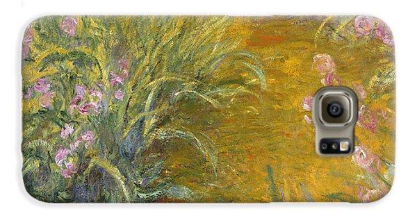 The Path Through The Irises Galaxy S6 Case by Claude Monet