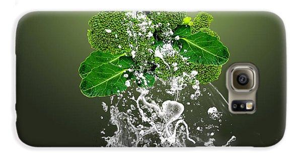 Broccoli Splash Galaxy S6 Case by Marvin Blaine