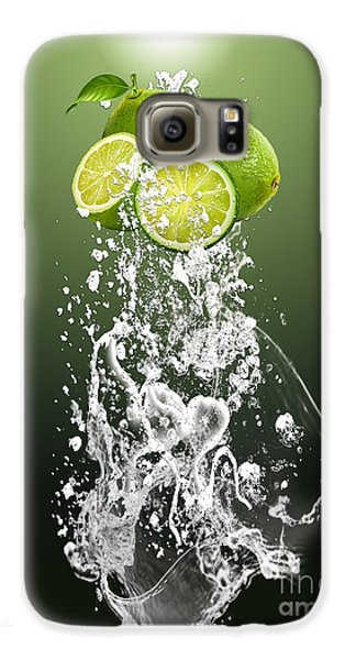 Lime Splash Galaxy S6 Case by Marvin Blaine