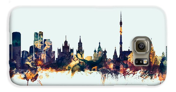 Moscow Russia Skyline Galaxy S6 Case by Michael Tompsett
