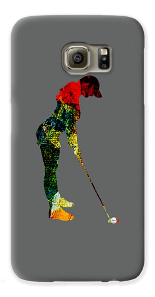 Womens Golf Collection Galaxy S6 Case by Marvin Blaine