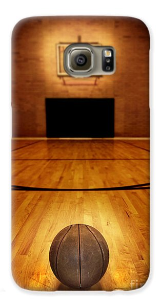 Basketball And Basketball Court Galaxy S6 Case by Lane Erickson