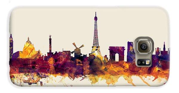 Paris France Skyline Galaxy S6 Case by Michael Tompsett