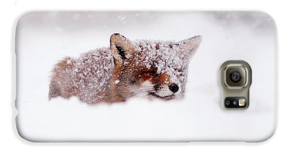 50 Shades Of White And A Touch Of Red Galaxy S6 Case by Roeselien Raimond