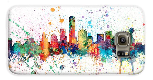 Dallas Texas Skyline Galaxy S6 Case by Michael Tompsett