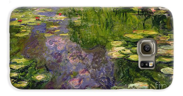 Waterlilies Galaxy S6 Case by Claude Monet