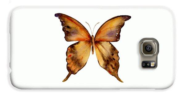 7 Yellow Gorgon Butterfly Galaxy S6 Case by Amy Kirkpatrick