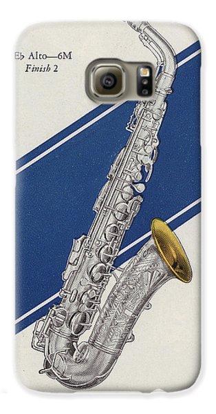 A Charles Gerard Conn Eb Alto Saxophone Galaxy S6 Case by American School