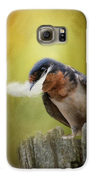 A Feather For Her Nest Galaxy S6 Case by Jai Johnson