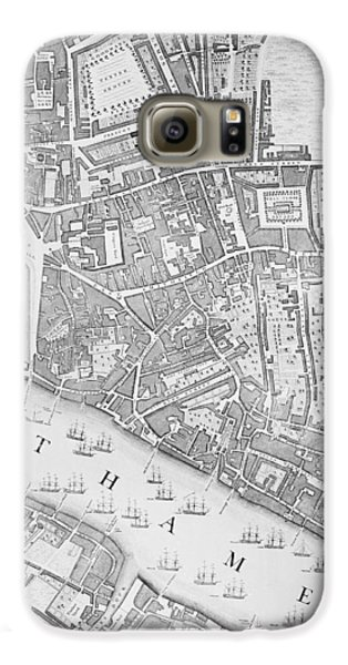 A Map Of The Tower Of London Galaxy S6 Case by John Rocque