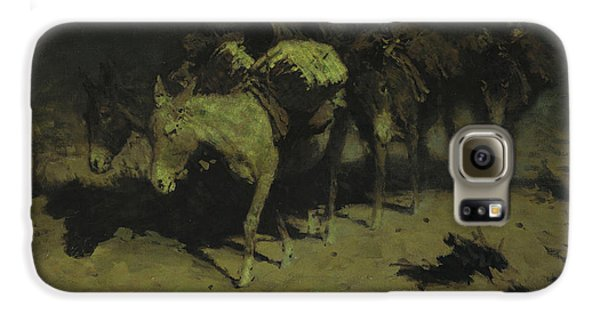 A Pack Train Galaxy S6 Case by Frederic Remington