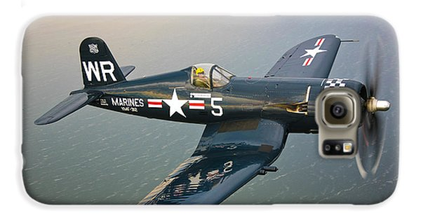 A Vought F4u-5 Corsair In Flight Galaxy S6 Case by Scott Germain