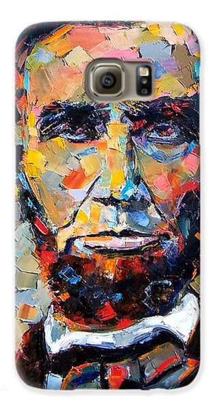 Abraham Lincoln Portrait Galaxy S6 Case by Debra Hurd