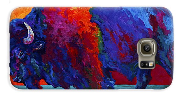 Abstract Bison Galaxy S6 Case by Marion Rose