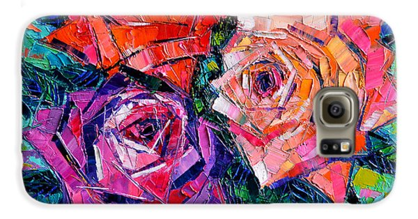 Abstract Bouquet Of Roses Galaxy S6 Case by Mona Edulesco