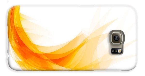 Abstract Feather Galaxy S6 Case by Setsiri Silapasuwanchai
