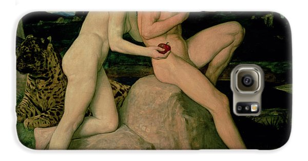 Adam And Eve  Galaxy S6 Case by William Strang